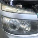 トヨタ ヴォクシー ヘッドライト磨き